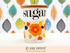 Sugar Storage Jar - Retro and Vintage China, Glassware and Kitchenalia - yay retro!