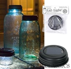 Lid Light - Dark Rustic.  Great for patio lighting, walkway lighting, garden accents, and more.  Use as an adorable night light that illuminates items you add in the jar.