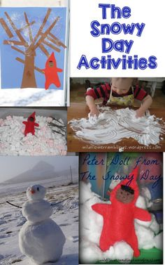 The Snowy Day by Ezra Jack Keats. Tot School - The Snowy Day - Wildflower Ramblings Snow Theme, Winter Theme, Snow Activities, Preschool Activities, Winter Kids, Preschool Winter, Snowy Day, Tot School, Little Doll