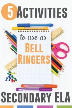 5 activities to use as bell ringers for secondary students. Start class in an orderly, fun way.