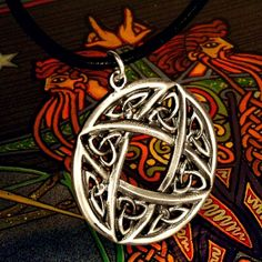 Intricate Celtic Sterling Silver Pendant Unique by CelticEternity, $31.00