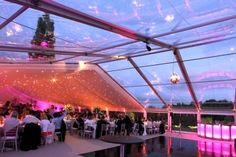 Clear roof marquee by Academy Marquees