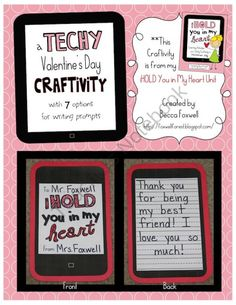 A Techy Valentines Day Craftivity product from Foxwell-Forest on TeachersNotebook.com
