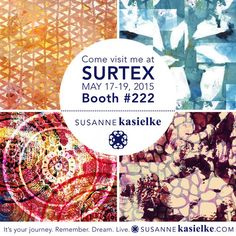 """I'm super excited to be exhibiting at my first trade show SURTEX with """"Cultivate Art Collective"""" in New York! Mark your calendars for May Booth First Trade, Design Competitions, Surface Pattern Design, Trade Show, Digital Collage, Portrait, Planer, Designer, How To Plan"""