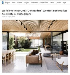 Great to see our courtyard house make it on the list of Archdaily World Photo Day 2017: 100 Most-Bookmarked Architectural Photographs. Special thanks to our Rockstar Photographer @blachford Check out all the other amazing shots on archdaily, link in our bio.• • • #architecturevictoria #australianarchitecture #melbournearchitecture #melbournearchitects #figr #house #architecturallydesigned #designinspiration #home #archilovers #contemporarydesign #architectdesigned #modernhome…