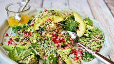 Super-salat med quinoa, avokado og brokkoli