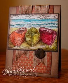 Innovative Stamp Designs image colored with ShinHan watercolors by Dina Kowal