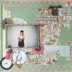 Today is your day - her very first day of school ever #mixedmedia #scrapbooking