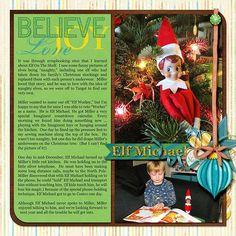 scrapbooking the elf on the shelf | elf on the shelf layout