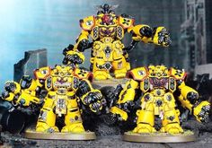 Imperial Fists Space Marines Centurions