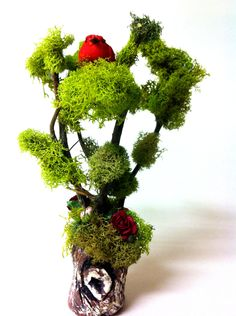 MIniature Twig Tree Fairy Garden Tree by EnchantedHomes on Etsy