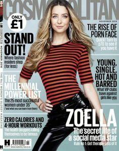 Zoella for Cosmopolitan UK magazine. V Magazine, Fashion Magazine Cover, Magazine Covers, Media Magazine, Magazine Images, Marie Claire, Vanity Fair, Nylons, Interview
