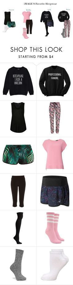 """""""iMAGE's Favorite Sleepwear"""" by zhangmaryliu2002 on Polyvore featuring Topshop, Markus Lupfer, We Are Handsome, Dorothy Perkins, River Island, New Balance, Ozone, Forever 21 and Johnstons of Elgin"""