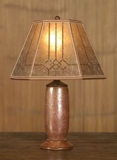 Mica Lamp Shade Captivating Antique Brass Ww1 Trench Art Lamp With Bent Mica Lamp Shade Inspiration Design