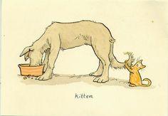Kitten  From a watercolour by  Anita Jeram