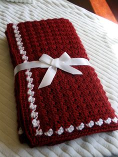 Handmade Crocheted Baby Blanket in Red and by 3citieshandmade, $25.00