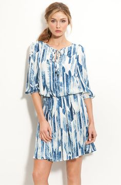 i think this little vince camuto crepe de chine dress would look adorable with some sandals in the summer.