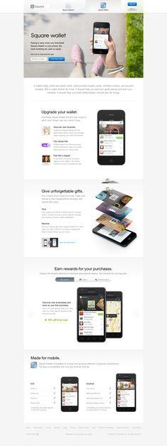 Square Wallet - App Landing Page