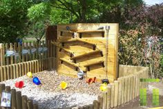 Cool water play area. Instead of rocks, I think sand would be nice. Like a mini beach in the backyard.