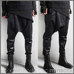Men's coated avant-garde Sarouel Pants (bot-7366)