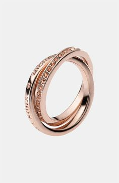 Love this Michael Kors rose gold ring, thinking of it for my bridesmaids...