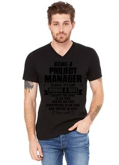 Being A Project Manager.... V-Neck Tee