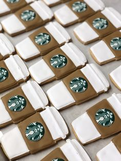Call or email to order your celebration cookies today! Starbucks Cookies, Iced Cookies, Starbucks Coffee, Sugar Cookies, Coffee Cookies, Starbucks Birthday Party, Cookie Party Favors, Cupcake Wars, Cookie Designs
