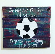 Soccer Sign Soccer Decor Sports Decor by TamieMarieDesign on Etsy More