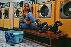 Laundrette photoshoot