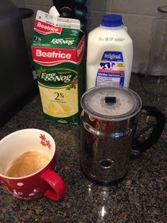 Homemade Eggnog Latte - www.polkadotsandmint.com