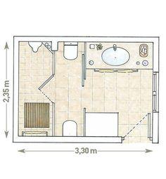 Plano: Un baño tres en uno