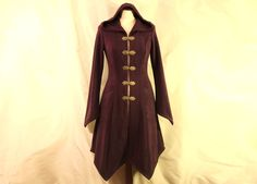 Made to Order: Knee Length Hippie Boho Psy Elven Fleece Spring Coat with Hood and Clasps, Corset Back, SIZES Many Colors! Diy Cape, Viking Costume, Frocks, Hippie Boho, Corset, My Style, Pretty, Elvish, Costumes