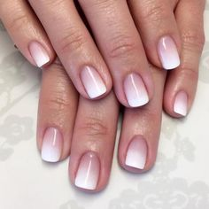 idee deco ongle gel ombre deco sur ongle french manucure originale