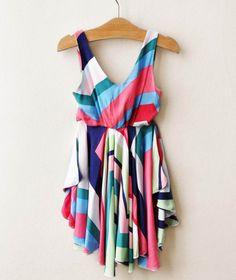 Breezy Summer Rainbow Dress , $29.99 by Teeter Tots