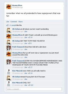 #EXO #Facebook Oxygen deprived horseradish!! RLAB!
