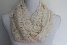 Off White Lace Stretch Knit Infinity Scarf Trim n' Thread https://www.amazon.com/dp/B076HXSWYR/ref=cm_sw_r_pi_awdb_x_gj.8zbKMWQYQ6