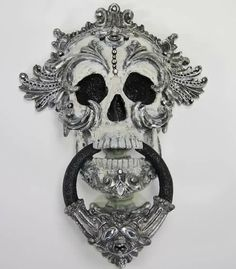 Skull door knocker