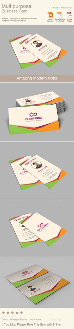 Multipurpose Business Card - Corporate Business Cards Download here : http://graphicriver.net/item/multipurpose-business-card/15963138?s_rank=136&ref=Al-fatih