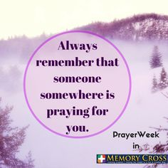 This week is ‪#‎PrayerWeek‬ for Memory Cross. Comment down your prayer request and we will be extending our prayers to you.