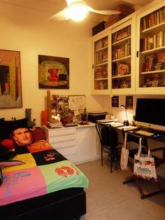 Projeto do escritório Bel e Tef Atelier da Reforma - Refúgio do Artista - Quarto de hóspedes