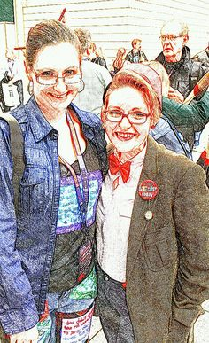 How cool is that!  Two Whovians meet at the Doctor Who 50th Celebration after tweeting the day before about the outfits they had made. Love the bow tie!  #SketchGuru having fun in England capturing pictures by cellphone and editing with apps. by BeyondtheWhiskers, via Flickr