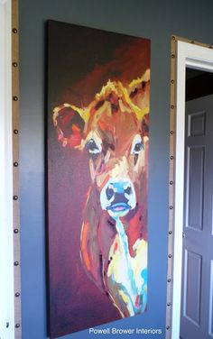 Love the cow painting! powell brower home: 3rd challenge down..THE REVEAL