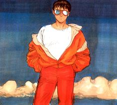 Various anime, manga, and video game fashion! Old Anime, Manga Anime, Anime Art, Akira Anime, Character Art, Character Design, Katsuhiro Otomo, Cyberpunk Clothes, Animation Film