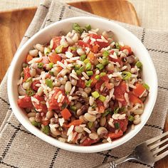 Hoppin John Recipe. Said to bring good luck all through the year when eaten New Year's Day