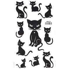 King Horse Cute Black Cat Temporary Tattoo. Temporary Tattoo Sticker. Tattoo Will Last About 4-6 Days. Safe for the Skin,Waterproof and Environmentally Friendly in Eu and Us Quality Standard. Easy to Wear and Easy to Remove. Perfect for the Beach, the Pool, Parties, Festivals, Concerts.