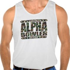 ALPHA BOWLER - Always Aim For Perfect Game, Camo Tank Top Tank Tops