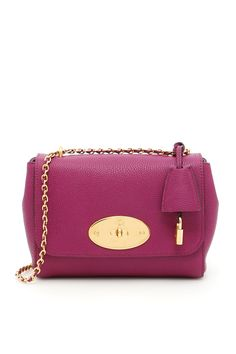 MULBERRY CLASSIC GRAIN SMALL LILY BAG. #mulberry #bags #shoulder bags #lining #charm #accessories #suede #