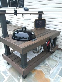 "Outstanding ""built in grill diy"" info is available on our website. Check it out and you will not be sorry you did. Table Grill, Grill Cart, Patio Grill, Backyard Bbq, Webber Grill Table, Outdoor Kitchen Bars, Outdoor Kitchen Design, Grill Diy, Bbq Stand"