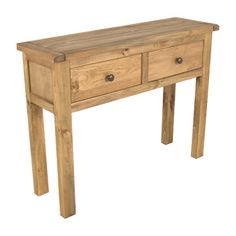 The Sanford 2 Drawer Console Table has a simple and pleasing design produced by skilled craftsmen to the highest standards using solid pine and veneers.Please note, unfortunately we cannot deliver this item to the Channel Islands. Hallway Storage, Storage Spaces, Dining Room Walls, Living Room Decor, Compact Furniture, Pine Timber, Chrome Handles, Hazelwood Home, Wood Species
