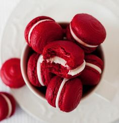 Red Velvet Macarons